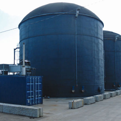 Biogas bunkers